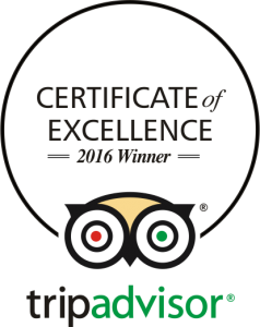 TripAdvisor - Certificate of Excellence 2016 Winner