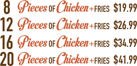 ESFC Chick & Fries Pricing